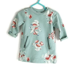 Long Sleeved Floral Dress 3-6m